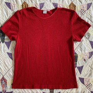Vintage ribbed red shirt